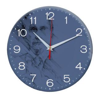 Настенные часы с принтом Путин