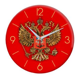Часы настенные с символикой «Герб России»