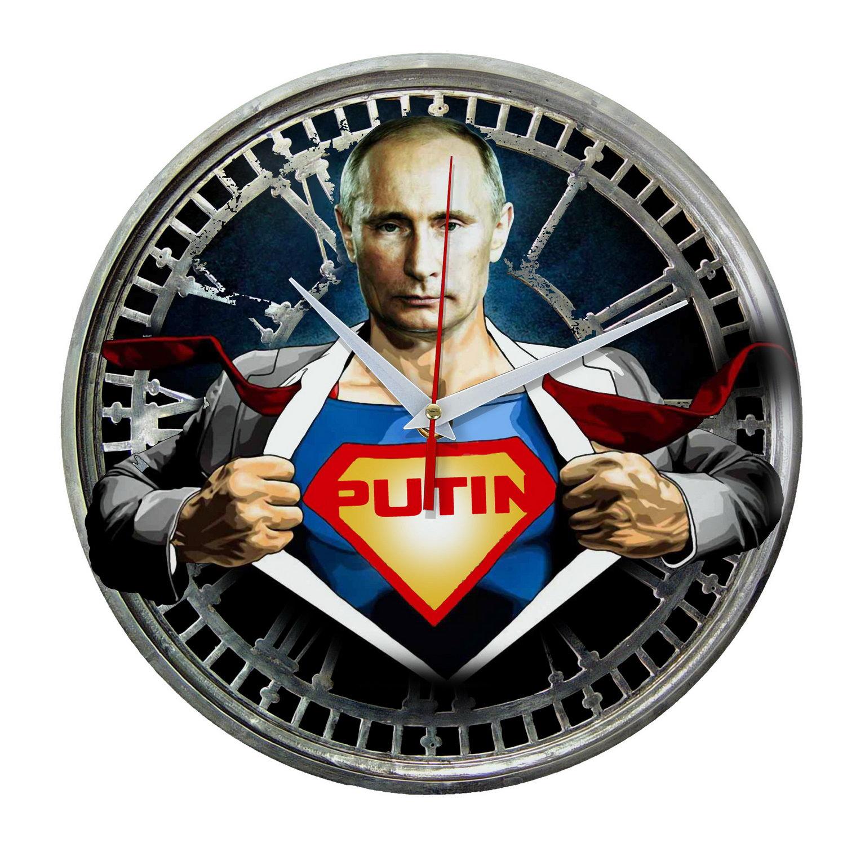 Настенные часы для супергероев России «Путин Супермен»
