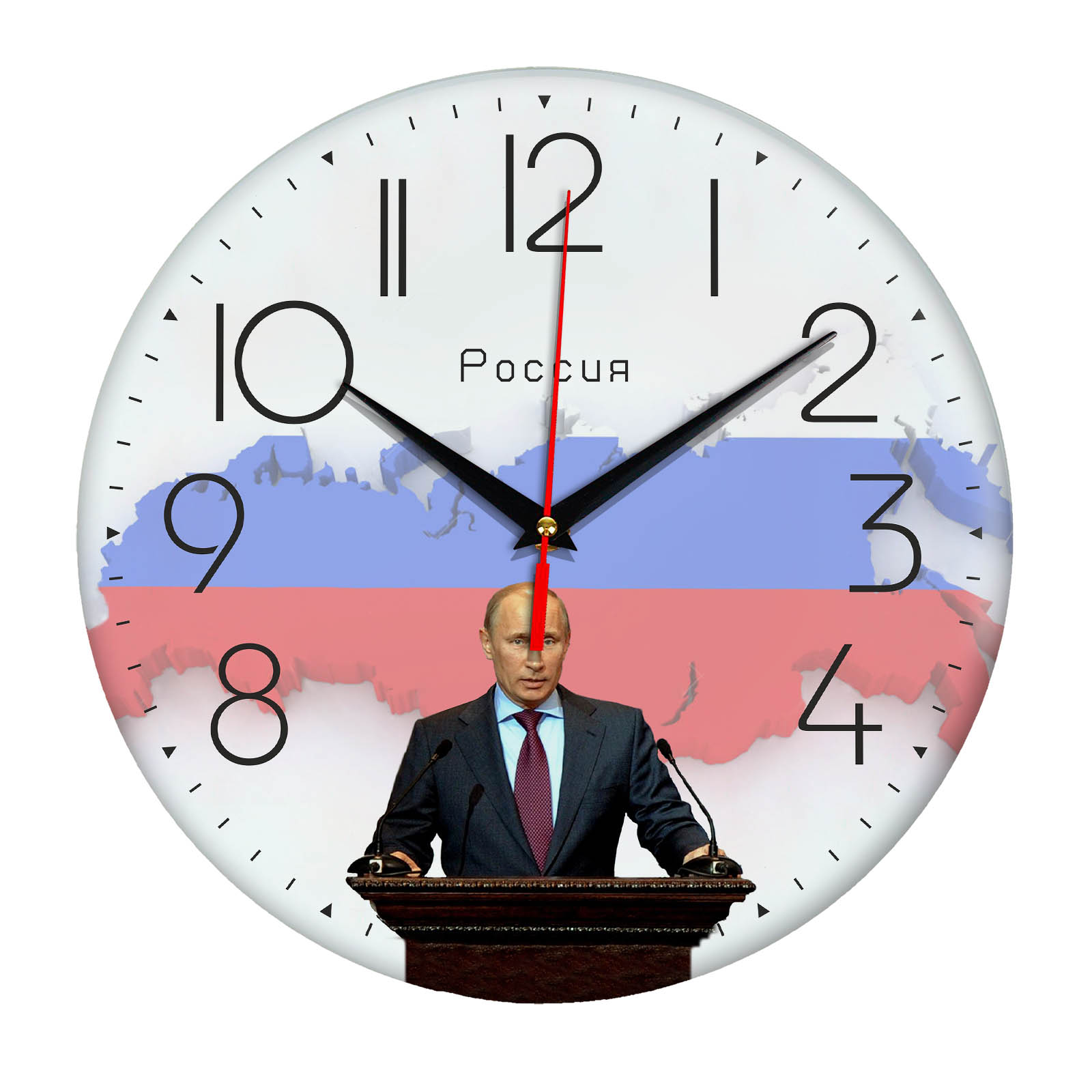 Настенные часы «Путин спикер»