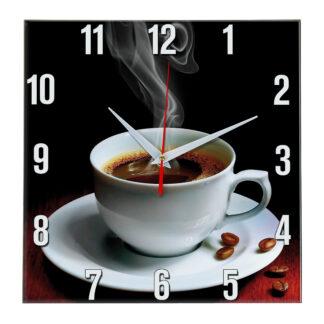 Настенные часы Чашка кофе с дымком