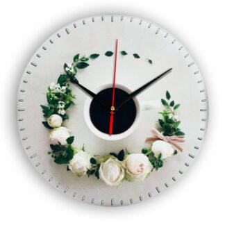 Настенные часы Чашка coffee floral circle 3