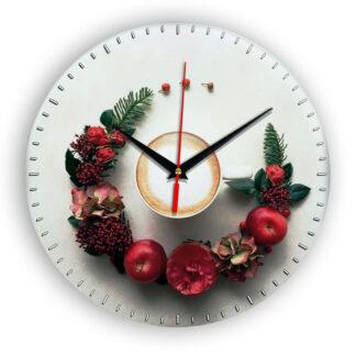 Настенные часы Чашка на тарелке coffee floral circle 4