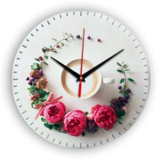 Настенные часы Чашка coffee floral circle 5