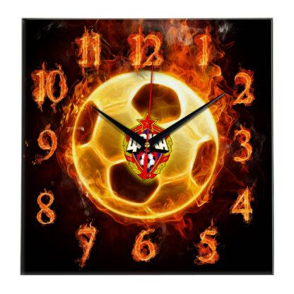 Настенные часы «Огненный футболист CSKA»