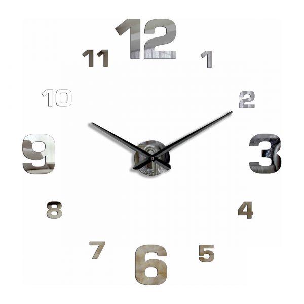 Большие настенные зеркальные 3D часы 1m 70-110 см