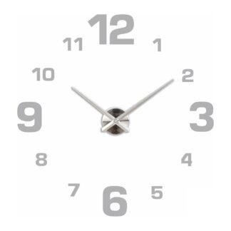 Большие 3D часы серебряные 70-110 см