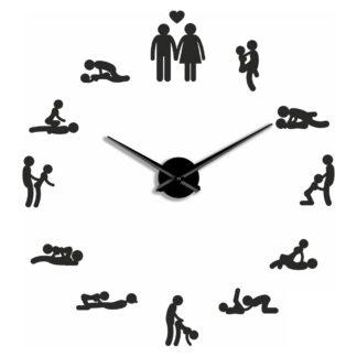 Большие 3D часы черные Камасутра