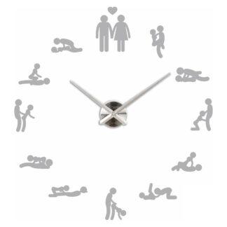 Большие 3D часы Камасутра серые