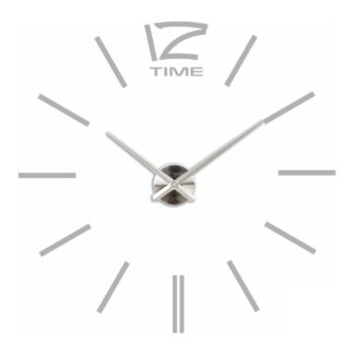 Большие 3D часы самоклеющиеся серые
