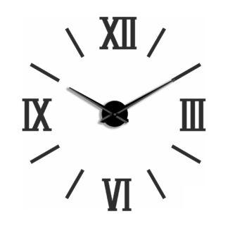 Большие 3D часы черные Римские