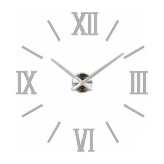 Большие серые 3D часы римские с рисками