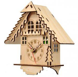 Часы конструктор из дерева «Дом кукушки» (2)