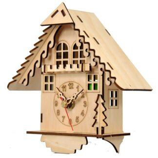 Часы конструктор из дерева «Дом кукушки»