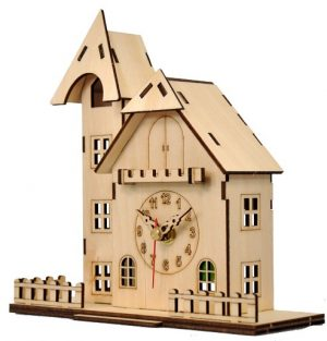 Часы «Домик с башенкой»