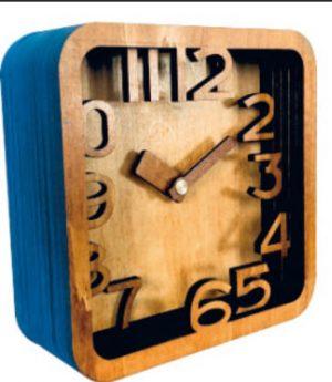Часы конструктор из дерева «Слоеный пирог» 9 х 9 см