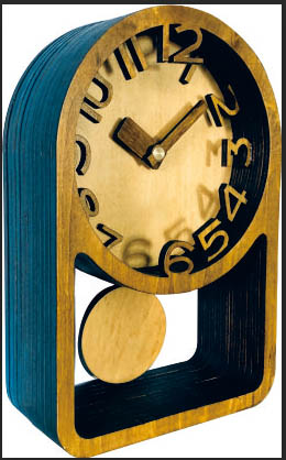 Часы конструктор из дерева «Настольные с маятником»