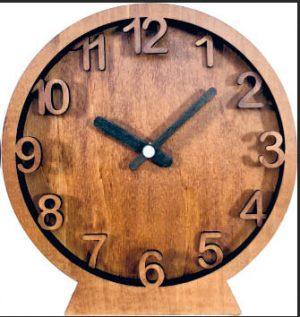 Часы конструктор из дерева «Слои»