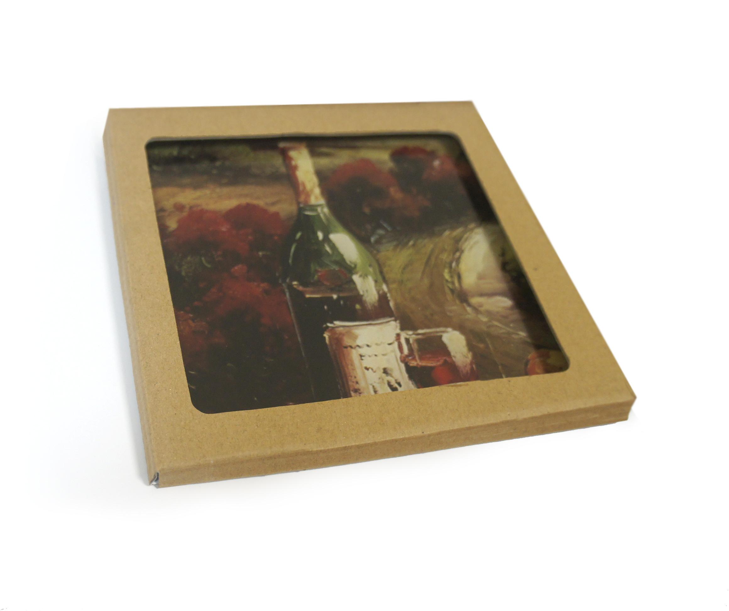 фотокартина на заказ на стекле 28х28 см