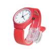Наручные часы на заказ силиконовый браслет красные