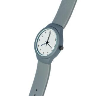 Наручные часы на заказ силиконовый браслет серые
