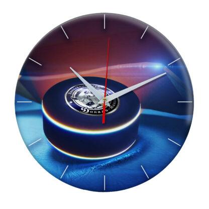 часы из закаленного стекла Шайба с логотипом Dynamo Minsk 02