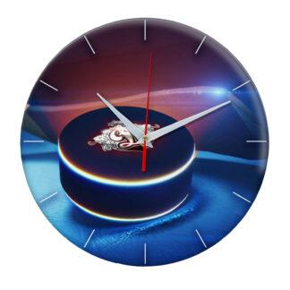 часы из закаленного стекла Шайба с логотипом Dynamo Riga 02