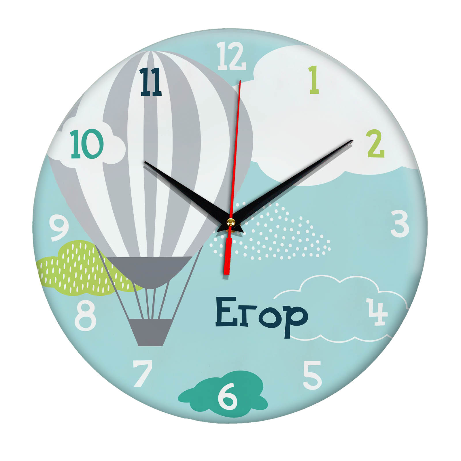 Подарок именной — Настенные часы с именем Егор