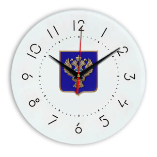 Настенные часы  «emblema-gerb-kaznacheystvo-na-sinem-fone-05»