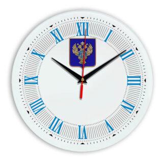 Настенные часы  «emblema-gerb-kaznacheystvo-na-sinem-fone-22»