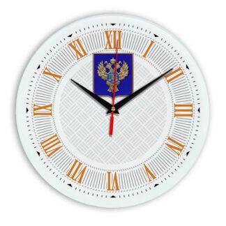 Настенные часы  «emblema-gerb-kaznacheystvo-na-sinem-fone-23»