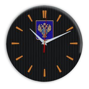 Настенные часы  «emblema-gerb-kaznacheystvo-na-sinem-fone-32»