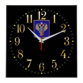 Настенные часы  «emblema-gerb-kaznacheystvo-na-sinem-fone-35»