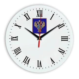 Настенные часы  «emblema-gerb-kaznacheystvo-na-sinem-fone-39»
