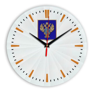 Настенные часы  «emblema-gerb-kaznacheystvo-na-sinem-fone-43»