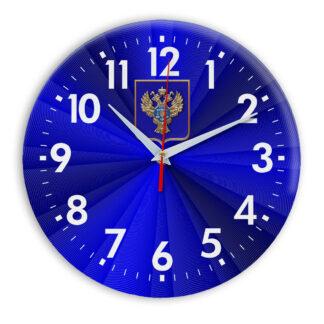 Настенные часы  «emblema-gerb-kaznacheystvo-na-sinem-fone-50»
