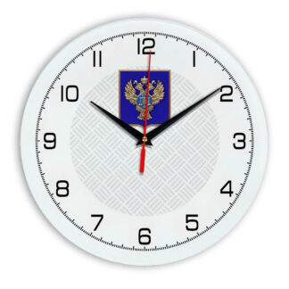 Настенные часы  «emblema-gerb-kaznacheystvo-na-sinem-fone-54»