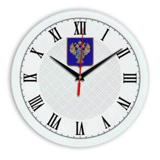 Настенные часы  «emblema-gerb-kaznacheystvo-na-sinem-fone-55»