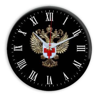 Настенные часы  «emblema-zdravoohraneniya-02-36»