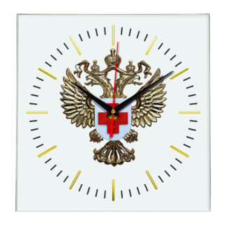 Настенные часы  «emblema-zdravoohraneniya-02-48»