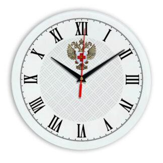 Настенные часы  «emblema-zdravoohraneniya-02-55»