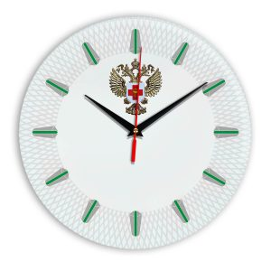 Настенные часы «emblema-zdravoohraneniya-02-56»