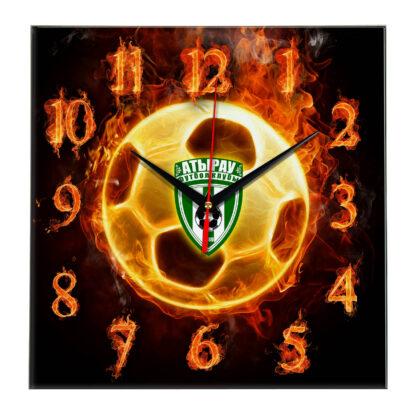 Настенные часы «Огненный футболист ATYRAU»