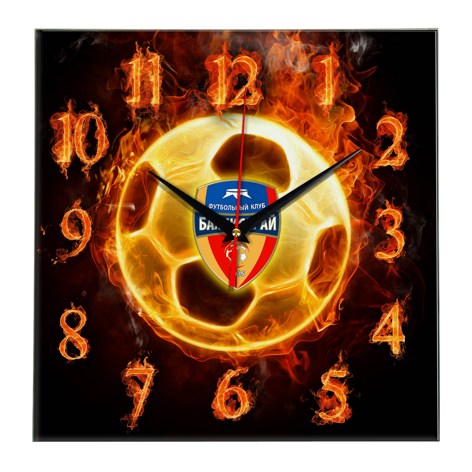 Настенные часы «Огненный футболист BAKHCHISARAY»