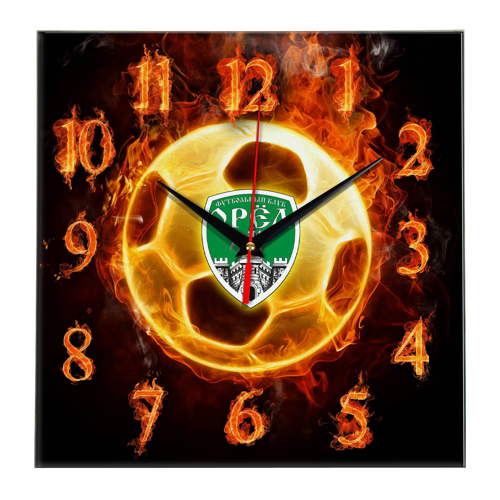 Настенные часы «Огненный футболист OREL»