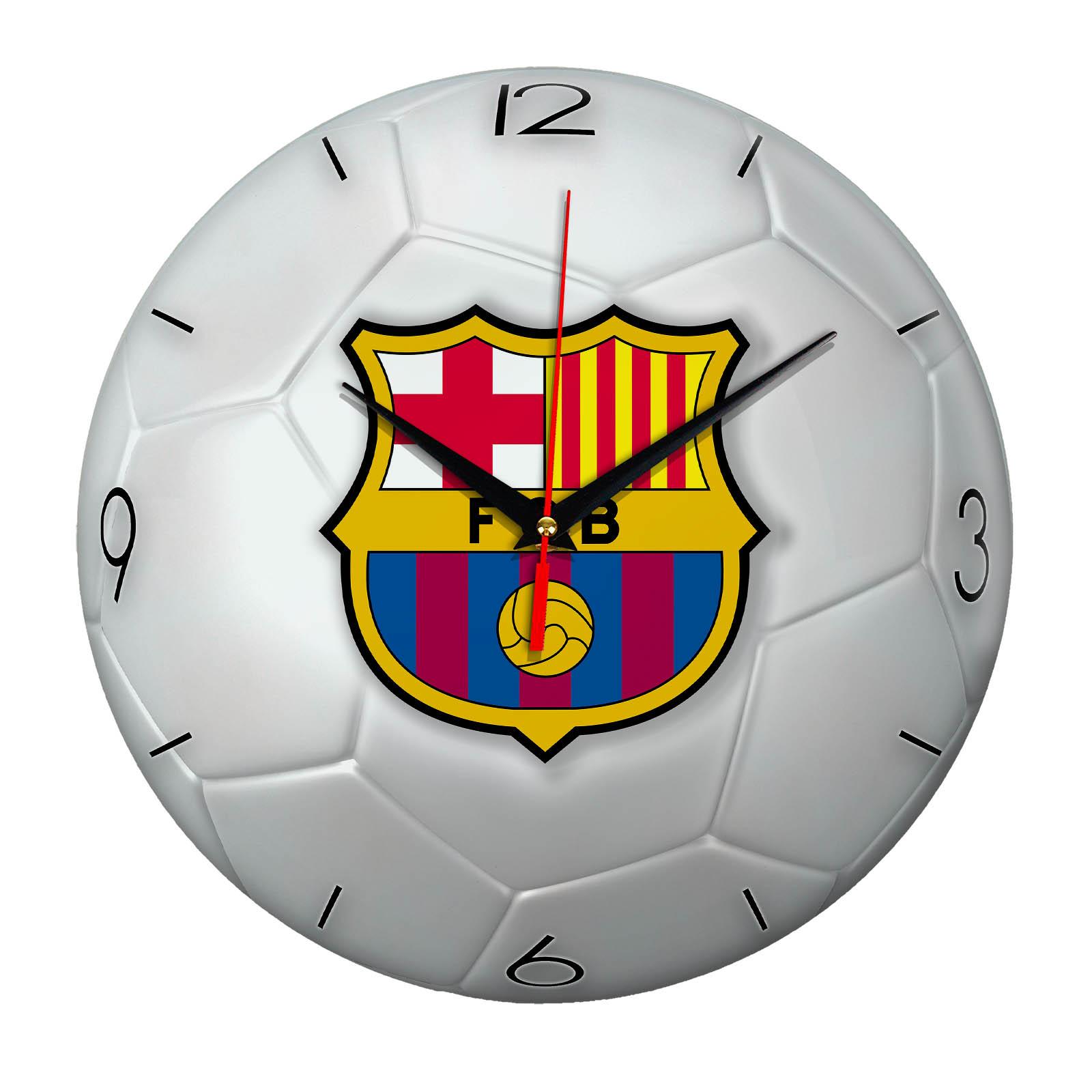 Настенные часы «Футбольный мяч BARSELONA»