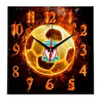 Настенные часы «Огненный футболист Liverpool»