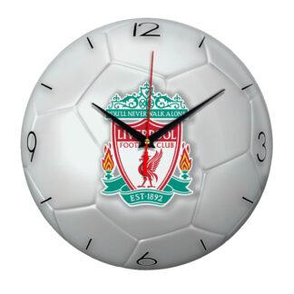Настенные часы «Футбольный мяч Liverpool»