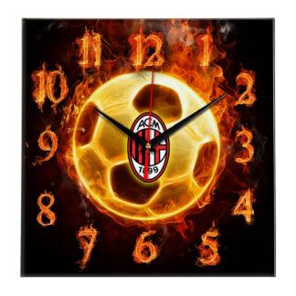 Настенные часы «Огненный футболист Milan»