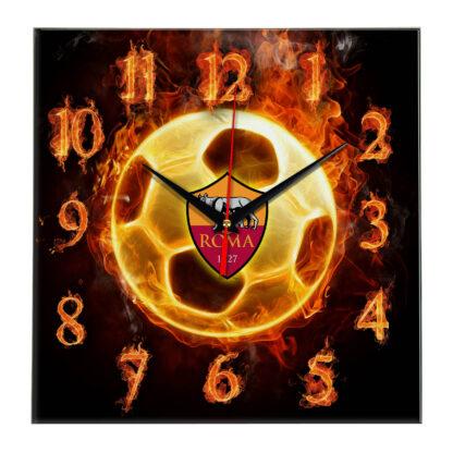 Настенные часы «Огненный футболист Roma»